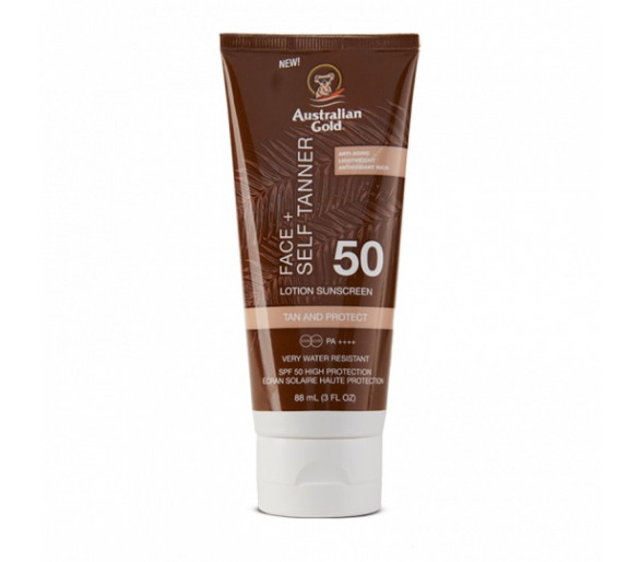 SPF50 Face + Self Tanner Lotion